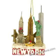 new york city skyline landmarks ornament chrysler