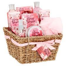 bath gift basket bath spa gift set basket cherry blossom 10