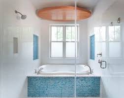 inspired bathroom inspired bathroom and shower in blue color 3989