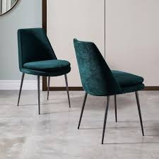 Uk Dining Chairs Finley Low Back Velvet Dining Chair West Elm Uk