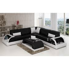 canape d angle noir et blanc photos canapé d angle cuir noir et blanc