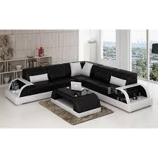 canape angle noir et blanc photos canapé d angle cuir noir et blanc