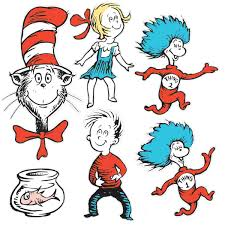 large dr seuss characters 2 sided deco kit dr seuss printables