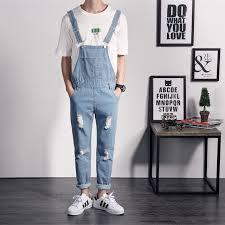 mens one jumpsuit mens denim work overall one denim jumpsuit hip hop slim
