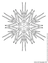 difficult snowflake coloring pages printable