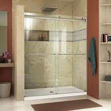22 Inch Shower Door Shop Dreamline Essence 44 In To 48 In W Frameless Brushed Nickel
