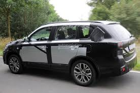 mitsubishi crossover interior 2015 mitsubishi outlander spied again this time in europe