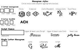 initial fonts for monogram monograms fonts colors