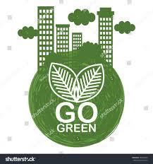 design logo go green go green ecology poster stock photo photo vector illustration