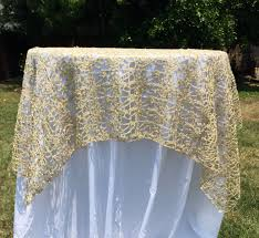 silver lace table overlay gold or silver sequence chain lace table overlay lace tablecloth