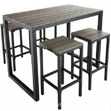High Patio Table And Chairs Home Design Mesmerizing Outdoor Tall Table Excellent High Patio