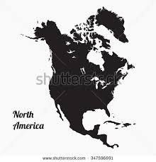 vector map of america vector map america gray vector stock vector 347596691