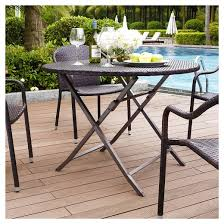 Folding Patio Dining Table Palm Harbor Outdoor Wicker Folding Table Target