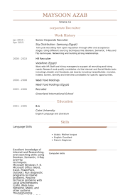 Hr Recruitment Resume Sample by Corporate Recruiter Resume Samples Visualcv Resume Samples Database