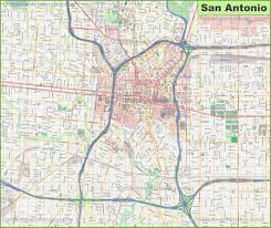 San Diego Downtown Map by San Antonio Maps Texas U S Maps Of San Antonio