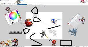 sprite brawl stage paint net by toad900 on deviantart