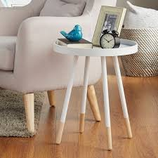 tray top end table marcella paint dipped round spindle tray top side table inspire q