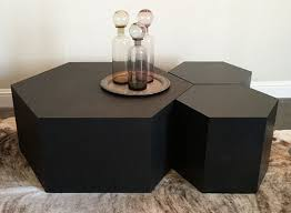 Hexagon Side Table Hexagonal Coffee Table Honeycomb Table Mirror Coffee Table Ideas