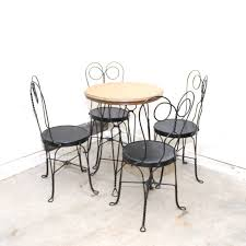 ice cream table and chairs antique oak and wrought iron ice cream table and chairs ebth