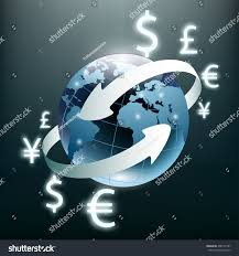 global money transfer money transfer global currency stock exchange stock vector