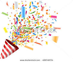 party confetti exploding party popper confetti stock vector 488748724