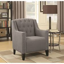 Nailhead Accent Chair Accent Chair With Diamond Tufting And Nailhead Trim By Coaster