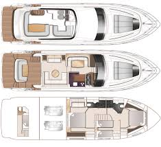 Yacht Floor Plan by Standard Specificaiton 2015 Princess 56 Flybridge