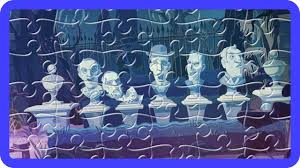 halloween haunted mansion finger family jigsaw puzzle scary