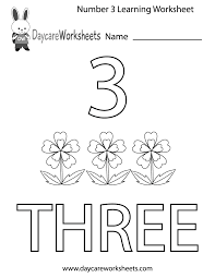preschool numbers worksheets