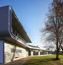 glass pavilion sweeping visitor centre celebrating the life and work of henry