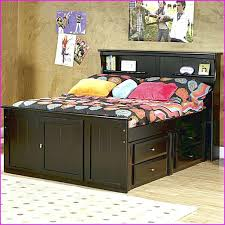 Bookcase Headboard With Drawers Full Storage Bed With Bookcase Headboard U2013 Robys Co