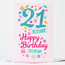 giant 21st birthday card glittery 21 only 99p