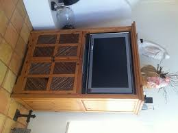 nifty flat screen tv cabinet with doors in stylish home interior