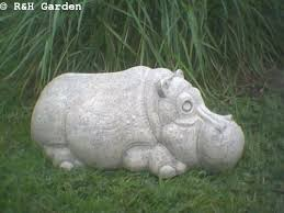 hippo garden ornament heavy 16 free p p co uk