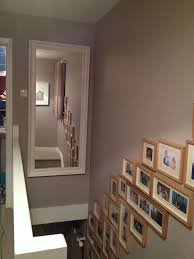 ikea stairs dulux soft truffle walls oversized mirror from ikea decorated hall