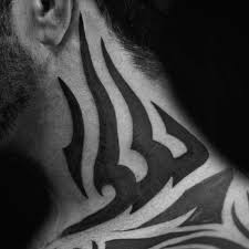 40 tribal neck tattoos for manly ink ideas