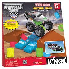 grave digger monster truck go kart for sale amazon com k u0027nex monster jam grave digger action pack building