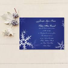 personalized wedding invitations custom shiny snowflake blue winter online wedding invitation