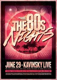 80s poster template vol 2 on behance
