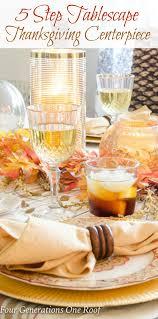 step thanksgiving centerpiece tablescape