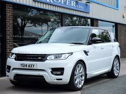 land rover hse white used land rover range rover sport 3 0 sdv6 hse dynamic auto for