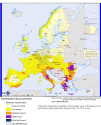 Map Of Southern Europe by Europe Earthquake Hazard Map Maps Knowledge Base
