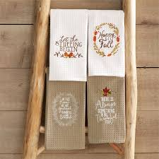 mud pie thanksgiving thanksgiving embroidered waffle weave towel mud pie