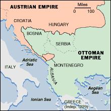 Ottoman Empire Serbia Map Balkan History