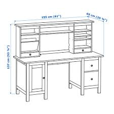 Ikea Hemnes Desk Hemnes Desk With Add On Unit White Stain Ikea