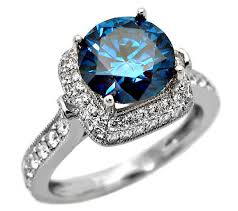 blue diamond wedding rings diamond engagement rings