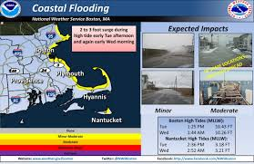 flood warning issued for cape cod coastal communities in