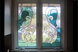 custom stained glass window installation
