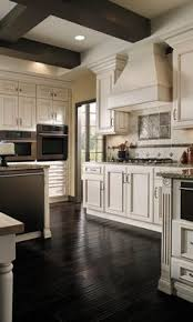 Do You Install Flooring Before Kitchen Cabinets Our Kitchen Before After Dark Wood Dark And Studio Mcgee