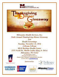 sixth annual thanksgiving dinner giveaway health screenings